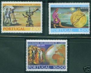 Portugal Scott 1267-9 MNH** 1975 Lisbon Geographic CV$4.60