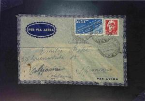 Italy 1940 Airmail Cover to USA (Creased) - Z1578