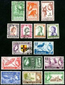 Sarawak Stamps # 197-211 Used VF