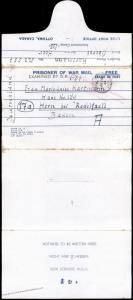 Canada Germany WWII POW Camp 135 Wainwright Kriegsgefangen Cover Baden Rad 81712