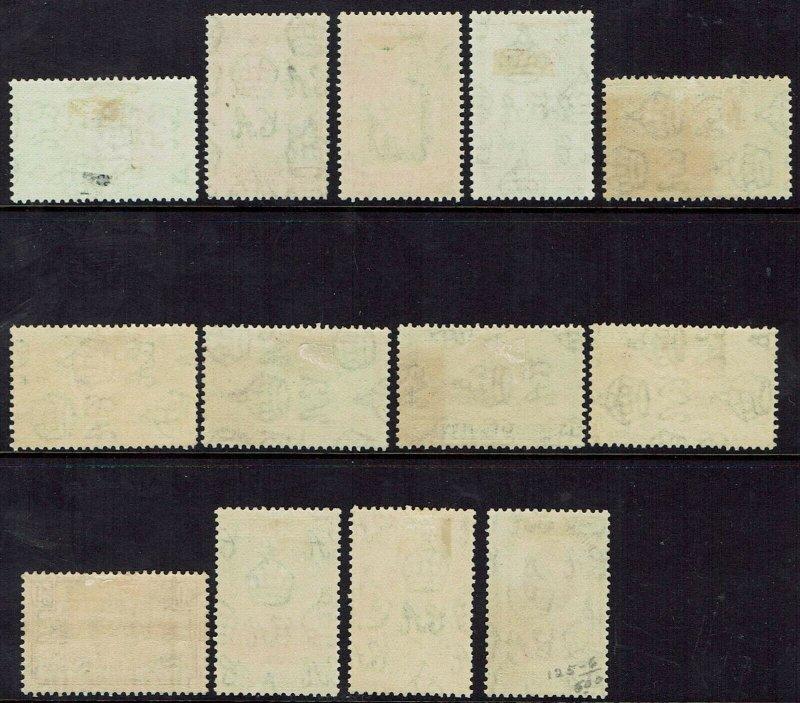 BRITISH HONDURAS 1938 KGVI PICTORIAL SET + 2C PERF