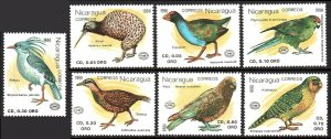 Nicaragua 1813-1819, MNH. Birds, 1990