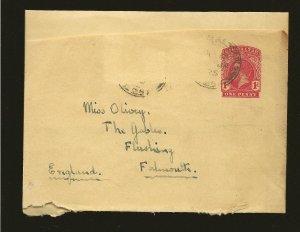 Gibraltar Postmark 1925 King George V Pre-stamped Newspaper Wrapper Entire