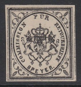 GERMANY Retourbriefe - Returned Letter Stamp - an old forgery - Speyer......B233