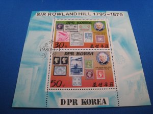 KOREA  (DPR)  -  SCOTT # 1924a  -   ROLAND HILL S/S         USED      (ss51)