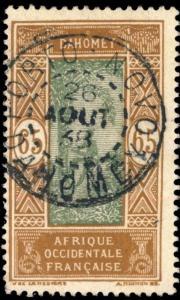DAHOMEY - 1938 -  CAD DOUBLE CERCLE PORTO-NOVO / DAHOMEY SUR N°76