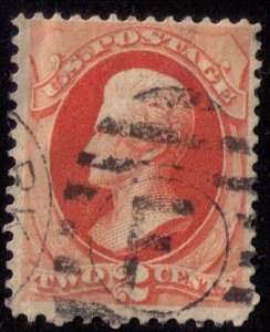 US Sc 178 Used Vermilion Fine to Very Fine