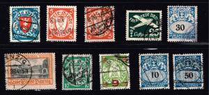 GERMANY STAMP DANZIG STAMPS COLLECTION LOT  #6