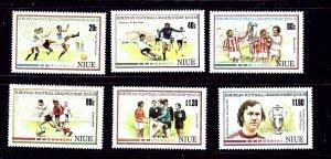 Niue 553 - 59 MNH 1988 Soccer
