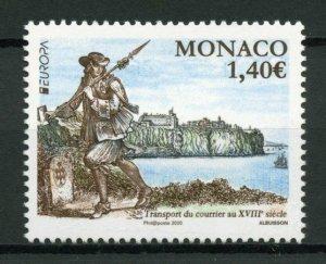 Monaco Europa Stamps 2020 MNH Ancient Postal Routes Services Architecture 1v Set