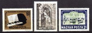 1961, Hungary, MNH set, Sc 1413-15