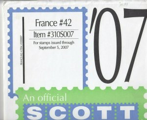 Scott France Supplement #42 2007
