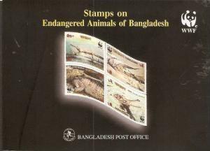 Bangladesh 1990-91 WWF Crocodile, Gharials Monkey, Pangolin, Reptiles Wildlif...