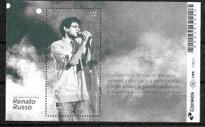 BRAZIL BRASIL 2019 MUSIC,POPULAR SINGER RENATO RUSSO MNH
