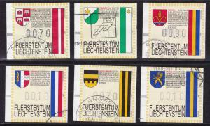 Liechtenstein 1995 Automatenmarken  Frama Labels Complete (11) Zum. 1-11 VF/(O)