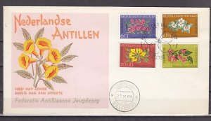 Netherlands Antilles. Scott cat. B64-67. Flowers issue. First day cover. ^
