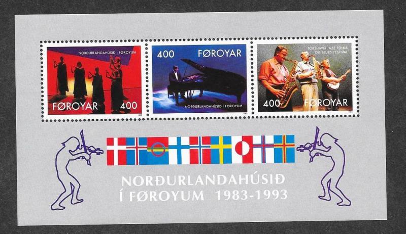 Faroe Islands MNH S/S 249a Entertainers 1993