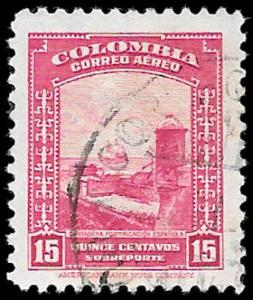 1941 COLOMBIA SC# C123 -  CV $.25 - USED ng - GOOD SPACE FILLING STAMP
