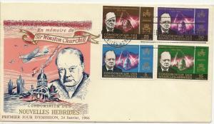 New Hebrides (Fr) 1966 Churchill FDC