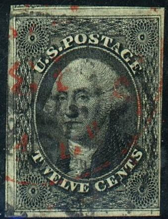 U.S. #17 Used F-VF Red anf Black Cancels