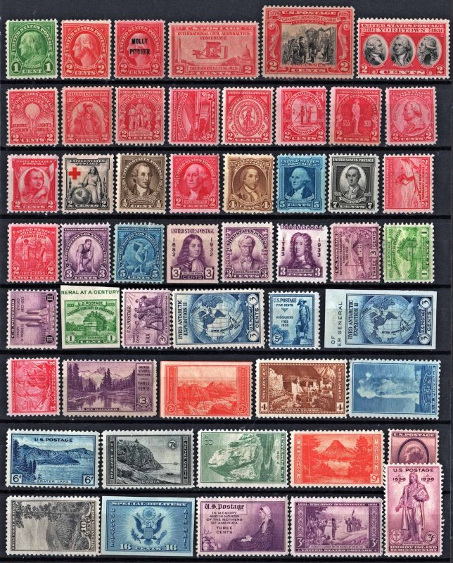 Mint Oldies Group of 51 Stamps: MH/MHR/MGD/NGAI