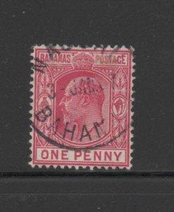 BAHAMAS #45  1906  1p KING EDWARD VII    F-VF USED