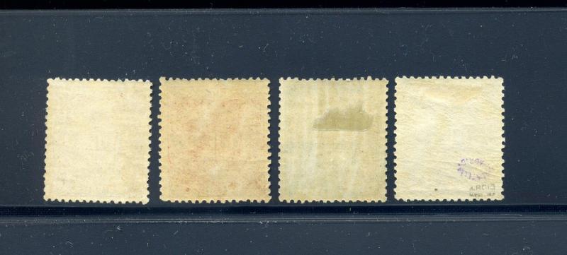Spanish Hispanola Edifil #7-10 Telegrafos Set of 4 Mint Stamps Cat €850+ SPAIN