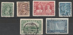 #211-16 Canada Used King George V Silver Jubilee Issue
