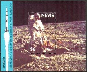 Nevis 1989 Space Apollo 11 S/S MNH