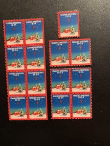 Christmas Seal 1934, CS 28, WX75, , See discription, MNH, $8.00