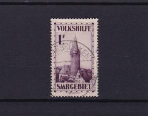 saar 1932 veiws  used 1f stamp cat £65+  ref r15165