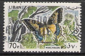 Lebanon #C431 Airmail Butterflies Used