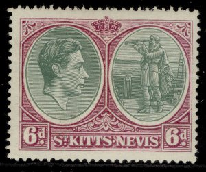ST KITTS-NEVIS GV SG74d, 6d green & purple, M MINT. Cat £10.