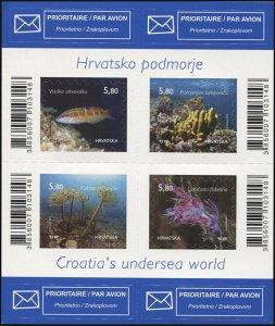 Croatia. 2014. Croatian Undersea World (MNH OG) Miniature Sheet