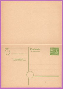 BER MiP8 M 1949 10/10pf Cloisters, Kleist Park, W/Reply Card Attached