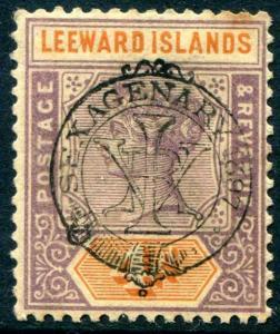 HERRICKSTAMP LEEWARD ISLANDS Sc.# 12 Mint Hinged Scott Retail $60.00
