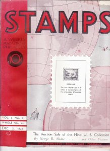 Stamps Weekly Magazine of Philately December 2, 1933 Stamp Collecting Magazine