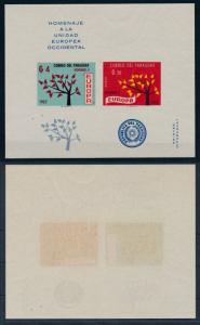 [35786] Paraguay 1962 United Europe Imperforated Souvenir Sheet MNH