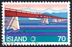 Iceland # 510 used ~ 70k Skeloara River Bridge