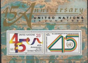 1988 United Nations NY 45 Anniversary of UN  SC# 579 Mint