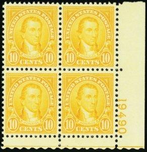 642, Mint 10¢ Superb NH Plate Block Very Well Centered! * Stuart Katz