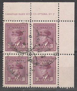 #252 Canada Used PB #7 UR