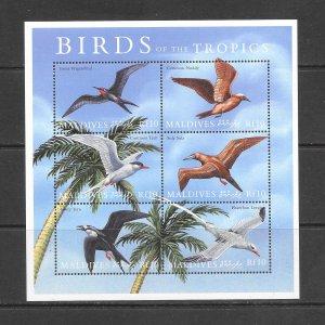 BIRDS - MALDIVES #2473  MNH