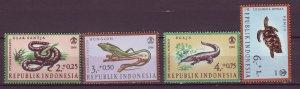 J25142 JLstamps 1966 indonesia set mh #b203-6 reptiles
