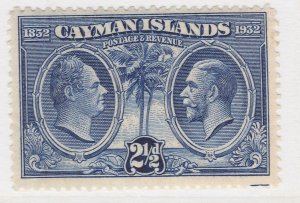 British Colony Cayman Islands 1932 2 1/2d MH* Stamp A22P19F8939