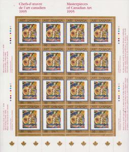 Canada - 1995 Masterpieces of Canadian Art Sheet #1545 Mint VF-NH