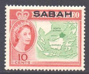 Malaya Sabah Scott 5 - SG412, 1964 Elizabeth II 10c MH*