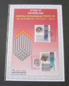Israel 1997 Festival of HANUKKAH Souvenir Left