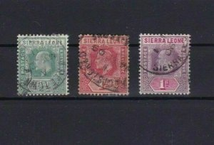 SIERRA LEONE  MOUNTED MINT OR USED STAMPS ON  STOCK CARD  REF R955