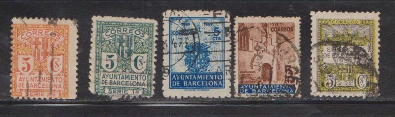 SPAIN - Lot Of Used Barcelona Type Issues - 1 Colour Unlisted